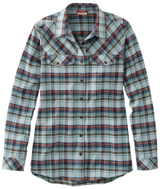 L.L. Bean Women's Cabin Stretch Flannel Shirt, Plaid