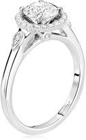 "Scott Kay Luminaire"" Semi Mount Diamond Engagement Ring in 14K White Gold (1/5 cttw)"