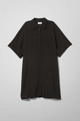 Weekday Harmony Shirt Dress - Black