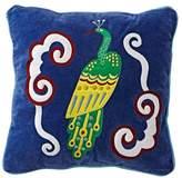Cherry Blossom Peacock Throw Pillow