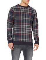 Urban Classics Urban Classic Men's Pullover All-Over-Print Check Crewneck Sweatshirt