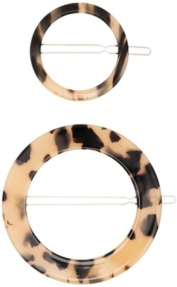 Valet Studio Sarah tortoiseshell-effect round hair clip set