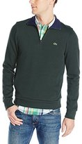 Lacoste Men's Half Zip Lightweight Sweatshirt with Logo AT Neck