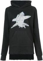 Baja East shark print hoodie