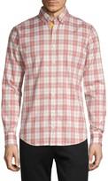 HUGO BOSS Slim-Fit Plaid Long-Sleeve Shirt
