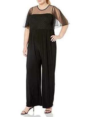 Betsey Johnson Women's Plus Size Jumpsuit with Capelet