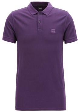BOSS Slim-fit polo shirt in washed cotton pique