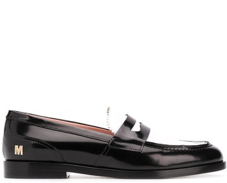 MSGM Bi-Colour Penny Loafers
