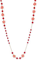 Kate Spade Lovely Lillies Gold-Tone Beaded Floral Strand Necklace
