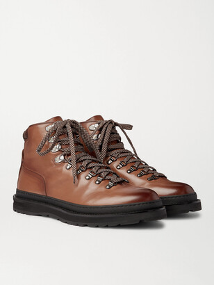 Dunhill Traverse Leather Boots