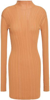 Acne Studios Kiki Ribbed Cotton-blend Turtleneck Mini Dress