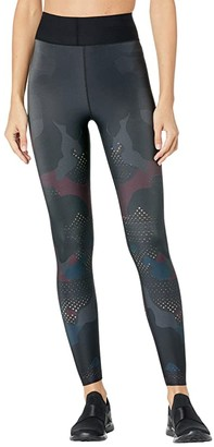 ULTRACOR Mesh Camo Ultra High Leggings (Burgundy Camo) Women's Casual Pants