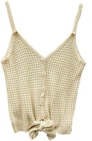 Goodnight Macaroon 'Mckayla' Bottom Tie Button Down Waffle Knit Top (6 Colors)