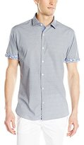 ProjekRaw Projek Raw Men's 100% Cotton Solid Shirt with Printed Inside Arm Cuff