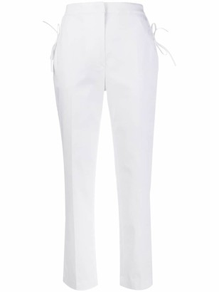 VIVETTA high-waisted tie-fastening trousers