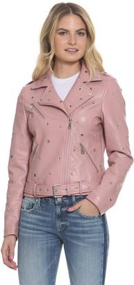 Vigoss Women's Studded Moto Jacket