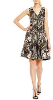 Calvin Klein Floral Embroidered Fit-and-Flare Dress