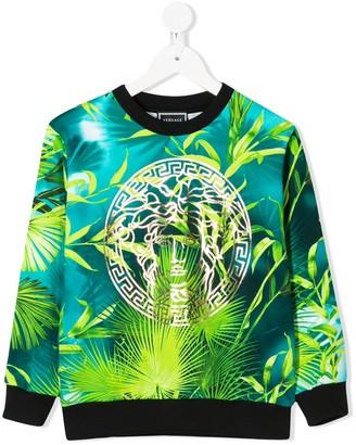 Versace Palm Print Sweater