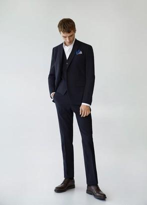 MANGO MAN - Slim fit suit gilet dark navy - 38 - Men