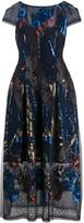 Talbot Runhof Embellished Midi Dress