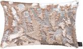 Aviva Stanoff Two Tone Mermaid Sequin Cushion - Citrine - 30x45cm