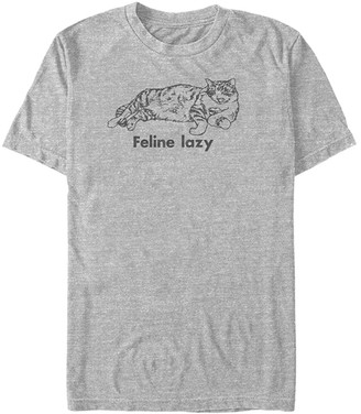 Fifth Sun Men's Tee Shirts ATH - Athletic Heather 'Feline Lazy' Tee - Men
