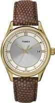 Timex Women's Classic T2P557 .Beige Leather Analog Quartz Watch