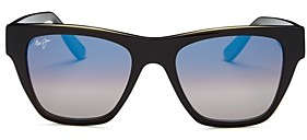 Maui Jim Unisex Ekolu Polarized Square Sunglasses, 54MM