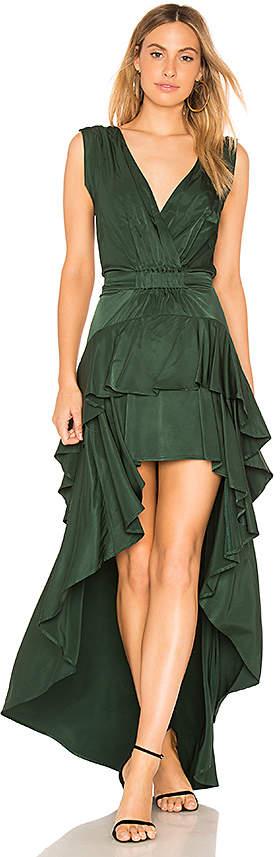 Aijek Madelyn Drape Maxi Dress