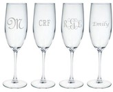 The Well Appointed House Set of Four Personalized Glass Champagne Flutes