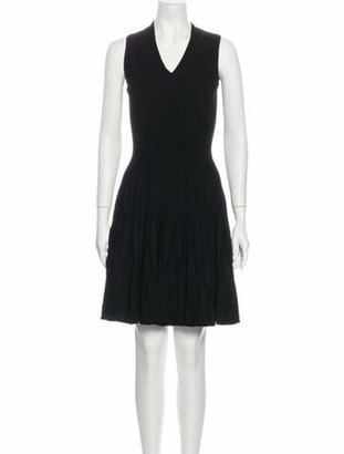 Alaia V-Neck Mini Dress w/ Tags Black