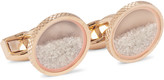 Tateossian - Rose Gold-plated Diamond Dust Cufflinks