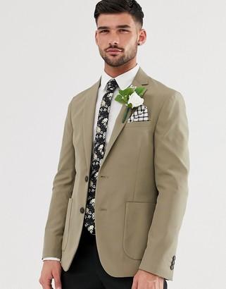 Burton Menswear lightweight blazer in stone