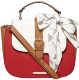 Dorothy Perkins Tan And White Scarf Cross Body Bag