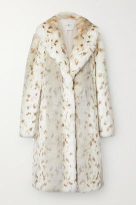 FAZ NOT FUR Snow Lynx Animal-print Faux Fur Coat - Cream