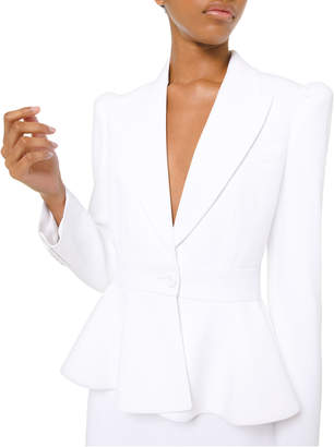 Michael Kors Puff-Sleeved Peplum Blazer Jacket