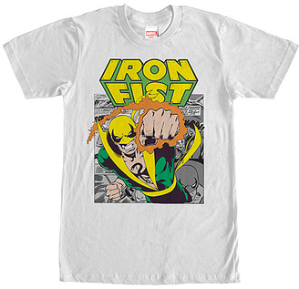 Marvel Men's Tee Shirts WHITE - 'Iron Fist' Iron Punch Tee - Men