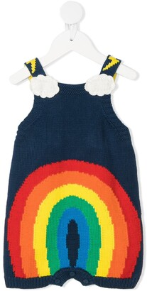 Stella McCartney Kids Rainbow Knitted Dungarees