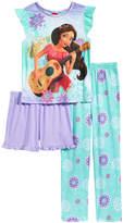 Disney Disney's Princess Elena of Avalor 3-Pc. Pajama Set, Little Girls & Big Girls