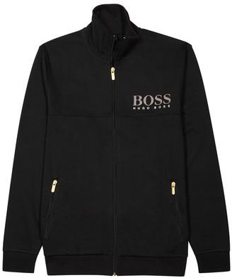 BOSS Black logo jersey track jacket