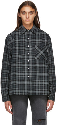 Noon Goons Black Baseline Cord Plaid Shirt