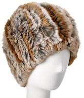 Belle Fare Knit Rex Rabbit Hat.