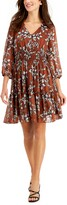 Thumbnail for your product : Taylor Petite Floral-Print Fit & Flare Dress