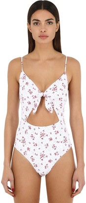Bondeye Floral Print Lycra One Piece Swimsuit