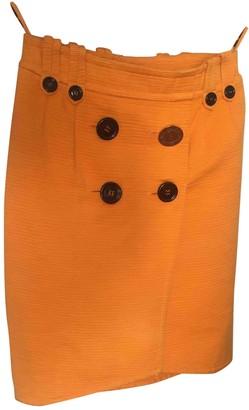 Saint Laurent Orange Tweed Skirts
