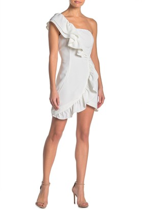 Do & Be Ruffled One Shoulder Dress