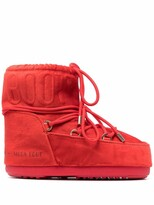Thumbnail for your product : Moon Boot Velvet Lace-Up Ankle Boots