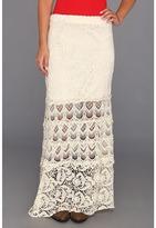 Scully Honey Creek Blair Crocheted Skirt (Natural) - Apparel