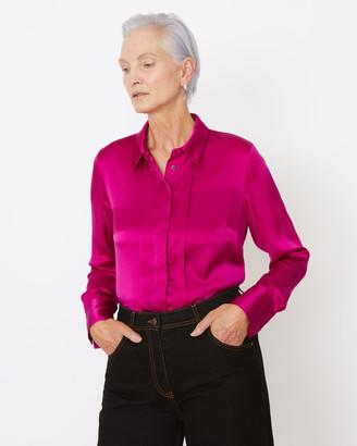 Jigsaw Silk Satin Tux Shirt