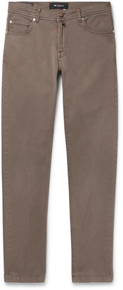 Kiton Slim-Fit Stretch-Denim Jeans - Men - Brown